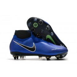 Nike Phantom VSN Elite DF SG-Pro AC Racer Blue Black Metallic Silver