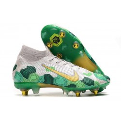 Nike Mercurial Superfly VII Elite SG Pro Mbappe White Gold Green