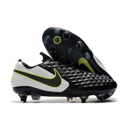 Nike Tiempo Legend 8 Elite SG-Pro AC Leather Shoes Black White Volt