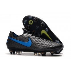 Nike Tiempo Legend 8 Elite SG-Pro AC Leather Shoes Black Blue