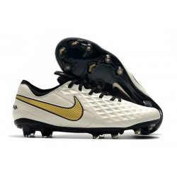 Nike Tiempo Legend VIII FG K-Leather Cleats - White Golden