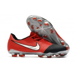 Nike Phantom Vnm Elite FG New Boot -Laser Crimson Metallic Silver Black