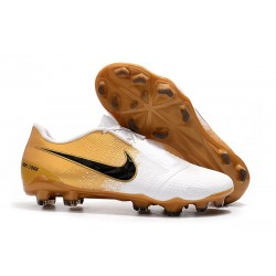 Nike Phantom Vnm Elite FG New Boot -White Gold Black