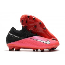 Nike Phantom Vision 2 Elite DF FG -Laser Crimson Metallic Silver Black