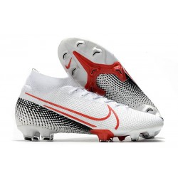 Nike Mercurial Superfly VII Elite DF FG LAB2 - White Laser Crimson Black