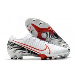 Nike Mercurial Vapor 13 Elite FG Cleats LAB2 - White Laser Crimson Black