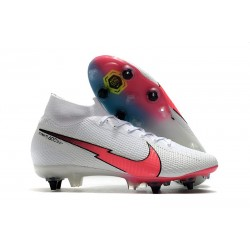 Nike Mercurial Superfly 7 Elite SG-Pro AC White Crimson Blue