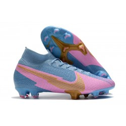 Nike Mercurial Superfly 7 Elite FG ACC Blue Pink Gold