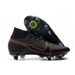 Nike Mercurial Superfly 7 Elite SG-Pro AC Black Red