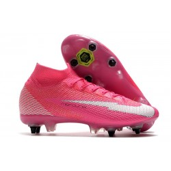 Nike Mercurial Superfly 7 Elite SG-Pro AC X Mbappe Pink Blast White