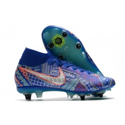Nike Mercurial Superfly 7 Elite FG SE11 Sancho Racer Blue White Aurora