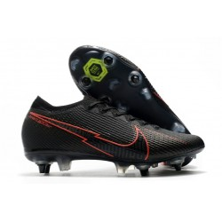 Nike Mercurial Vapor 13 Elite SG Anti-Clog Black Red