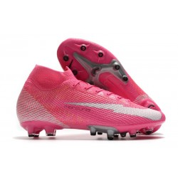 Nike Mercurial Superfly 7 Elite AG-PRO X Mbappe Pink Blast White Black