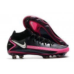 Nike Phantom GT Elite Dynamic Fit FG Black Pink Blast Metallic Silver