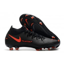 New Nike Phantom GT Elite Dynamic Fit FG Black ChiliRed SmokeGrey