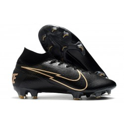 Nike Mercurial Superfly 7 Elite FG ACC Leather Black Gold