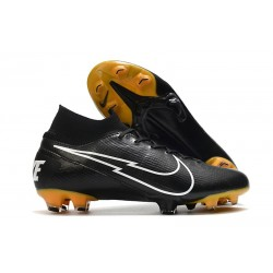 Nike Mercurial Superfly 7 Elite FG ACC Leather Black White