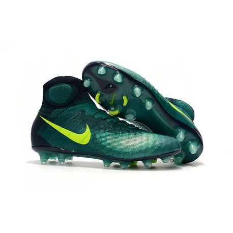 Nike Magista Obra 2 FG Frim Ground Shoes Rio Volt Obsidian Jade
