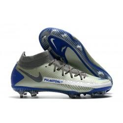 New Nike Phantom GT Elite Dynamic Fit FG Grey Blue