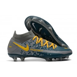 Nike Phantom Generative Texture Elite DF FG Navy Blue Yellow