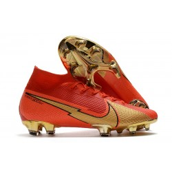 Nike Mercurial Superfly VII Elite Dynamic Fit FG CR100 Red Gold