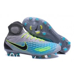 Nike Magista Obra 2 FG Frim Ground Shoes Grey Blue Black