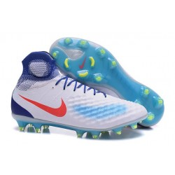 Nike Magista Obra 2 FG Frim Ground Shoes White Jade Red