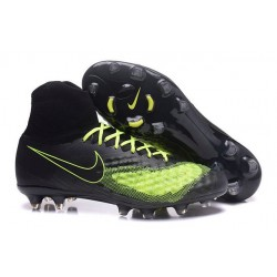 Nike Magista Obra 2 FG Frim Ground Shoes Black Yellow