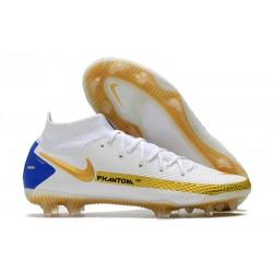 Nike Phantom GT Elite DF FG White Gold Blue