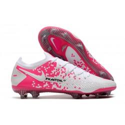 Nike Phantom GT Elite FG Soccer Boot White Pink