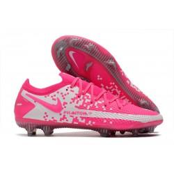 Nike Phantom GT Elite FG Soccer Boot Pink White
