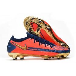 Nike Phantom GT Elite FG Soccer Boot Orange Blue Gold
