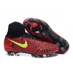 Nike Magista Obra 2 FG Frim Ground Shoes Red Black Yellow