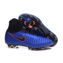 Nike Magista Obra II FG High Top Boots Blue Black