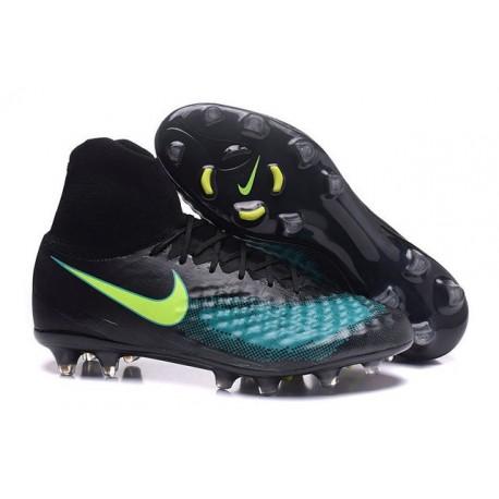 Nike Magista Obra II FG High Top Boots Black Blue Volt