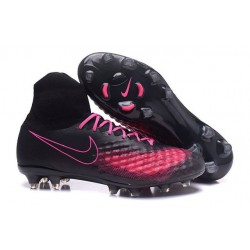 Nike Magista Obra II FG High Top Boots Black Pink