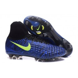 Nike Magista Obra II FG High Top Boots Blue Black Volt