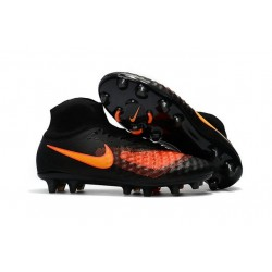 Nike Magista Obra II FG High Top Boots Black Orange
