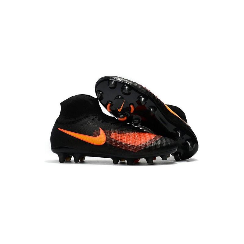 ventilador Productos lácteos Personas mayores  Nike Magista Obra II FG High Top Boots Black Orange