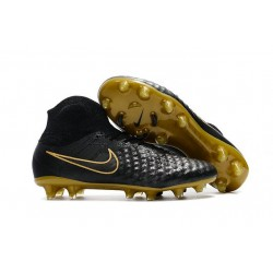 Nike Magista Obra II FG New 2017 Soccer Cleat Black Gold